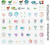 logo mega collection  abstract...   Shutterstock .eps vector #257452516