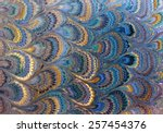 Antique Marbled Paper Background