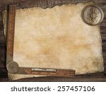 old treasure map background... | Shutterstock . vector #257457106