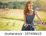 Sexy Woman With Vintage Bike I...