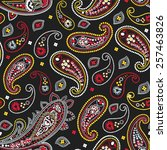 paisley pattern | Shutterstock .eps vector #257463826