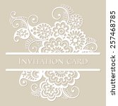 vector lace card. vintage white ... | Shutterstock .eps vector #257468785