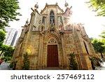 Shishi Sacred Heart Cathedral in Guangzhou China at day