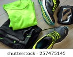 clothes make running with... | Shutterstock . vector #257475145