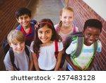 portrait of smiling little... | Shutterstock . vector #257483128
