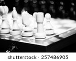playing wooden chess pieces | Shutterstock . vector #257486905