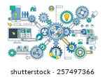 vector infographic with gears... | Shutterstock .eps vector #257497366