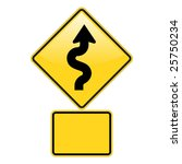 zig zag road warning sign with... | Shutterstock .eps vector #25750234
