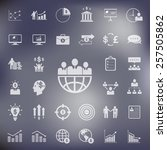 business and finance icons set...   Shutterstock .eps vector #257505862