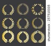 set of various gold award... | Shutterstock .eps vector #257510335