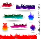 set banners for sporting events ... | Shutterstock .eps vector #257515855