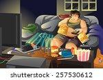 a vector illustration of lazy...   Shutterstock .eps vector #257530612