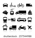 collection of icons... | Shutterstock .eps vector #257544988