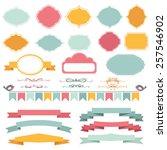 vector illustration of a set of ...   Shutterstock .eps vector #257546902