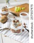homemade granola with greak...   Shutterstock . vector #257557975