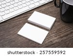 blank business cards mockup | Shutterstock . vector #257559592