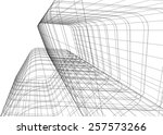 abstract architectural... | Shutterstock .eps vector #257573266