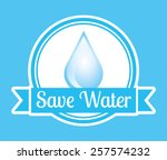 natural water design  vector... | Shutterstock .eps vector #257574232