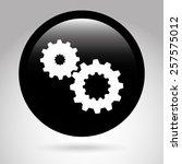 settings  button design  vector ...   Shutterstock .eps vector #257575012