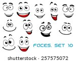 happy and joyful emotions on... | Shutterstock .eps vector #257575072