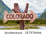 colorado wooden sign with...   Shutterstock . vector #257576446