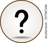 question mark sign icon  vector ... | Shutterstock .eps vector #257587186