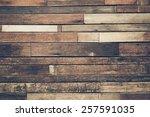 old hard wood plank wall... | Shutterstock . vector #257591035