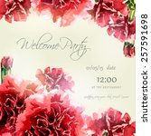 invitation card with watercolor ... | Shutterstock .eps vector #257591698