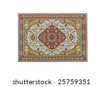 Turkish Carpet Isolated On White