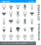 light bulb icons   illustration ... | Shutterstock .eps vector #257594905