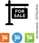 for sale sign symbol for... | Shutterstock .eps vector #257612416