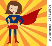 my mom is a super hero | Shutterstock .eps vector #257615506