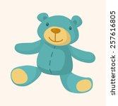 baby toy theme elements | Shutterstock .eps vector #257616805