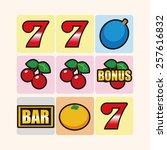 casino slot machine theme... | Shutterstock .eps vector #257616832