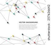 abstract polygonal vector...   Shutterstock .eps vector #257626642