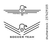Football Emblems With Eagles