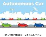 autonomous car image... | Shutterstock .eps vector #257637442
