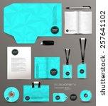 stationery design identity... | Shutterstock .eps vector #257641102