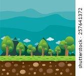 background scene game  | Shutterstock .eps vector #257641372
