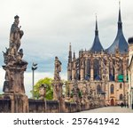 cathedral of saint barbara in... | Shutterstock . vector #257641942