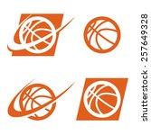 set of basketball logo icons | Shutterstock .eps vector #257649328