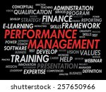 performance management word... | Shutterstock .eps vector #257650966