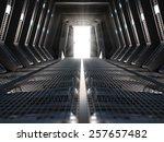 futuristic interior of a space...   Shutterstock . vector #257657482