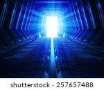 Futuristic Interior Of A Space...
