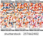 flowing wave line pattern ... | Shutterstock .eps vector #257662402