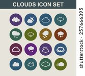 cloud icon set | Shutterstock .eps vector #257666395