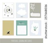 set of 6 creative journaling...   Shutterstock .eps vector #257668036
