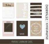 set of 6 hipster journaling...   Shutterstock .eps vector #257668042
