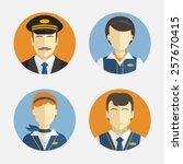 vector icons depicting... | Shutterstock .eps vector #257670415