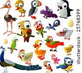 extra big set of birds | Shutterstock .eps vector #25768399
